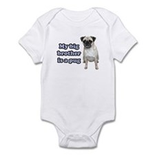 Big Brother Pug Infant Bodysuit