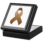 Brown Awareness Ribbon Keepsake Box