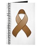 Brown Awareness Ribbon Journal