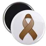 "Brown Awareness Ribbon 2.25"" Magnet (100 pack)"