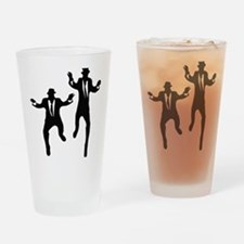 Dancing Brothers Drinking Glass