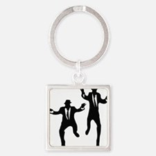 Dancing Brothers Square Keychain