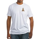Brown Awareness Ribbon Fitted T-Shirt