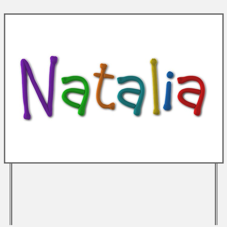 Natalia Play Clay Yard Sign