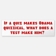 Obama Quizzical Bumper Bumper Bumper Sticker