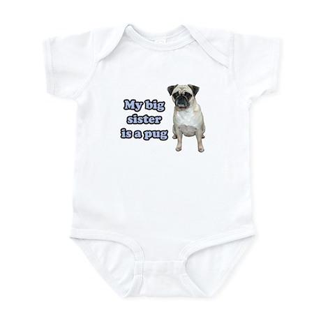 Big Sister Pug Infant Bodysuit