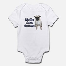 Big Sister Pug Infant Bodysuit
