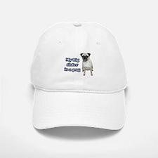 Big Sister Pug Baseball Baseball Cap