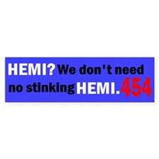 454 Bumper Bumper Sticker