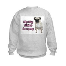 Big Sister Pug Sweatshirt