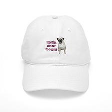 Big Sister Pug Baseball Cap