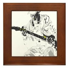 Guitarist Framed Tile