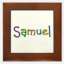 Samuel Play Clay Framed Tile