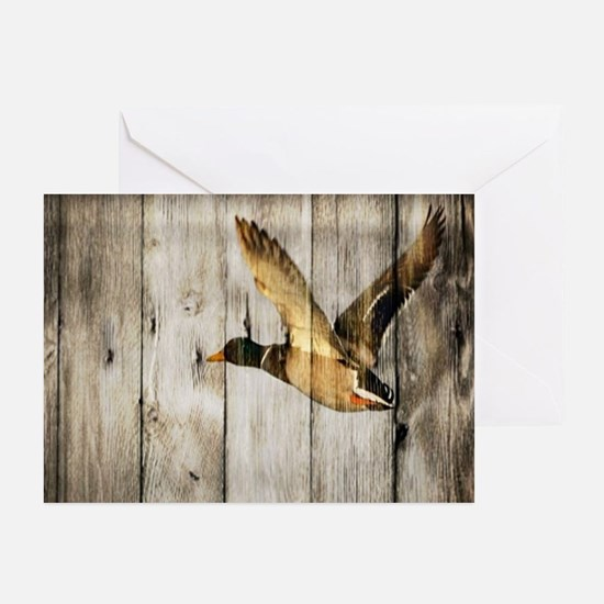 barnwood wild duck Greeting Cards