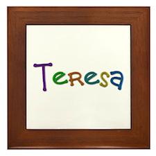 Teresa Play Clay Framed Tile