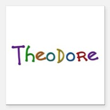Theodore Play Clay Square Car Magnet