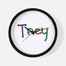 Trey Play Clay Wall Clock