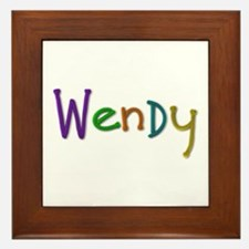 Wendy Play Clay Framed Tile
