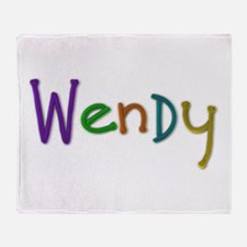Wendy Play Clay Throw Blanket