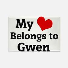 Gwen Rectangle Magnet