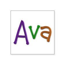 Ava Play Clay Square Sticker