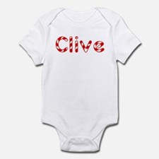 Clive - Candy Cane Infant Bodysuit
