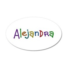 Alejandra Play Clay 35x21 Oval Wall Decal