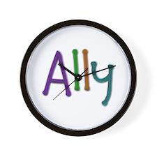 Ally Play Clay Wall Clock