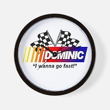 Racing - Dominic Wall Clock