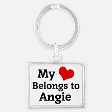Angie Landscape Keychain