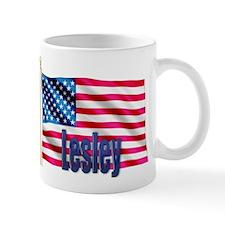 Lesley American Flag Gift Mug