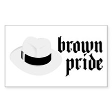 Brown Pride Rectangle Decal