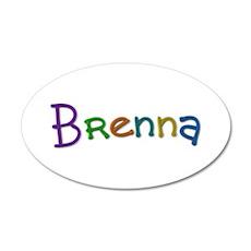 Brenna Play Clay 20x12 Oval Wall Decal