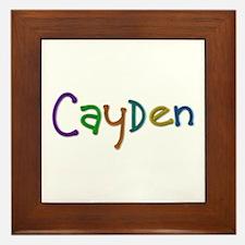 Cayden Play Clay Framed Tile