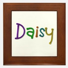 Daisy Play Clay Framed Tile