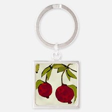 pomegranates Square Keychain