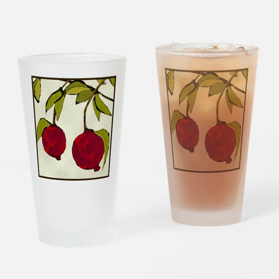 pomegranates Drinking Glass