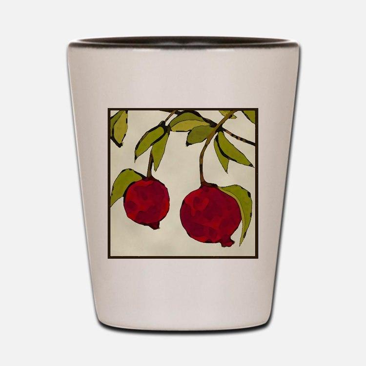 pomegranates Shot Glass