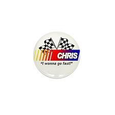 Racing - Chris Mini Button