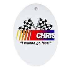 Racing - Chris Oval Ornament
