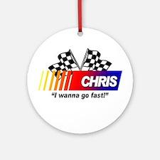 Racing - Chris Ornament (Round)