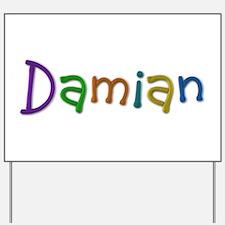 Damian Play Clay Yard Sign