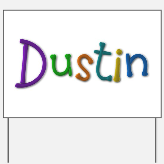 Dustin Play Clay Yard Sign