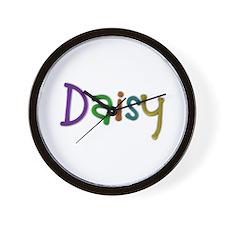 Daisy Play Clay Wall Clock