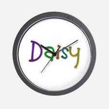 Daisy Play Clay Wall Clock