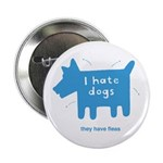 fleabitten dog Button