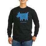fleabitten dog Long Sleeve Dark T-Shirt