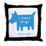 fleabitten dog Throw Pillow