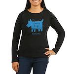 fleabitten dog Women's Long Sleeve Dark T-Shirt