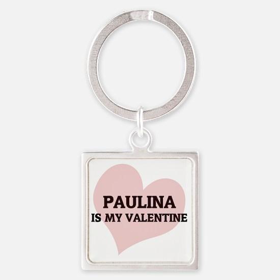 PAULINA Square Keychain